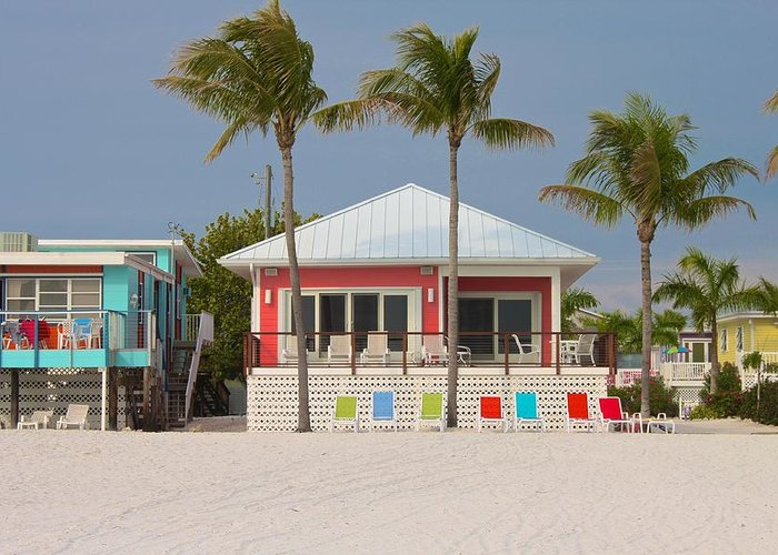 Beach Greeting Card featuring the photograph Beach House by Jerry Patterson
