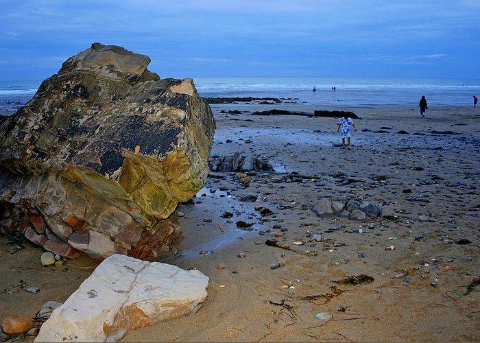 Beach Greeting Card featuring the photograph Beach Landing by David Valentyne