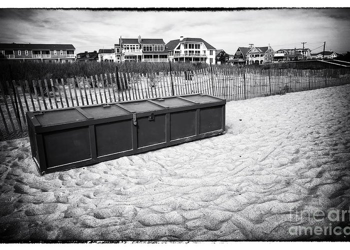 Beach Locker Greeting Card featuring the photograph Beach Locker by John Rizzuto
