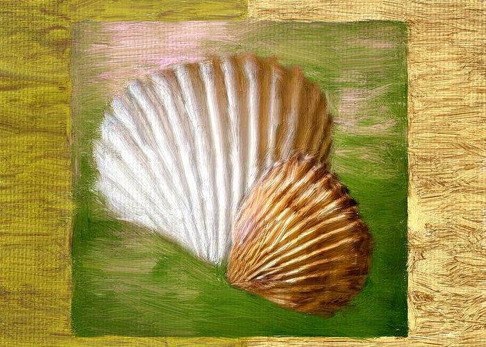 Seashell Greeting Card featuring the digital art Beach Memoirs by Lourry Legarde