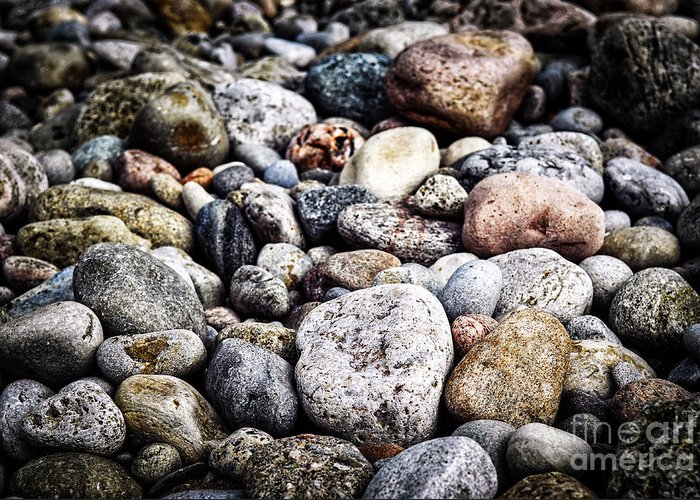 Rock Greeting Card featuring the photograph Beach Pebbles by Elena Elisseeva