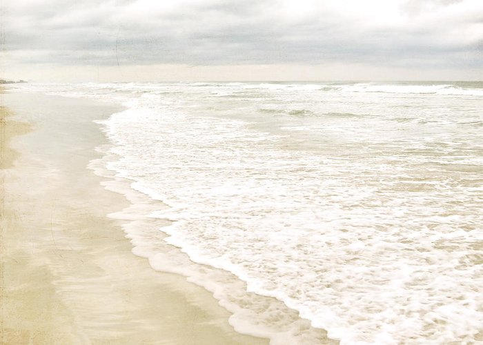 Beach Print Greeting Card featuring the photograph Beach Serenity by Angie Mahoney