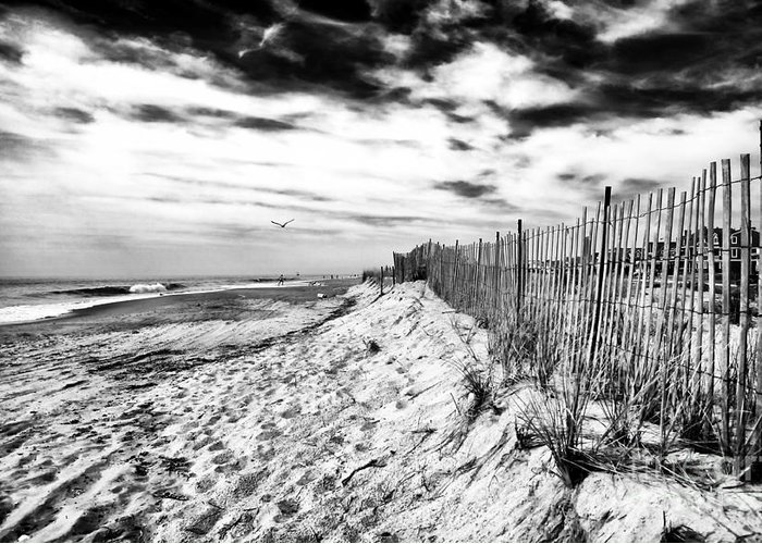 Beach Side Cape May Greeting Card featuring the photograph Beach Side Cape May by John Rizzuto