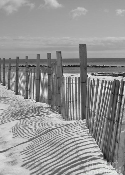 Snow Greeting Card featuring the photograph Beach Snow by Catherine Reusch Daley