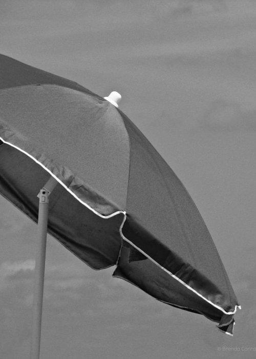 Beach Greeting Card featuring the photograph Beach Umbrella by Brenda Conrad