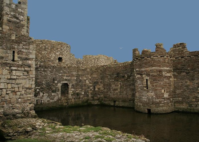 Castles Greeting Card featuring the photograph Beamaris Castle by Christopher Rowlands