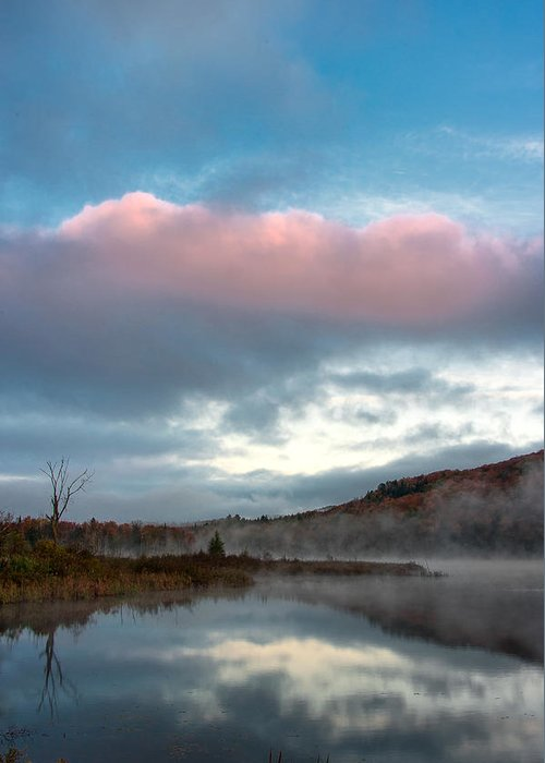 Landscape Greeting Card featuring the photograph Bean Pond Sunrise by Andy Richards