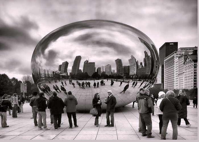 Cloud Gate Greeting Card featuring the photograph Bean Stalking by Peter Chilelli
