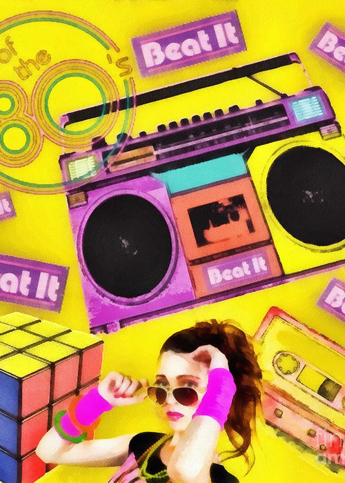 Beat It Greeting Card featuring the digital art Beat It by Mo T