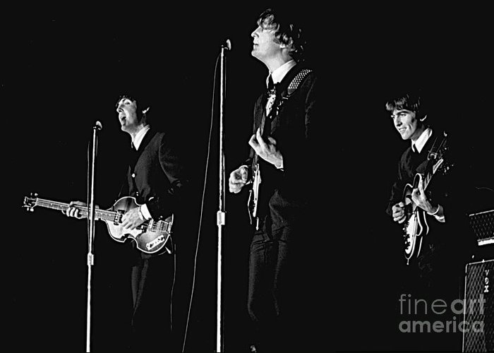 Beatles Greeting Card featuring the photograph Beatles In Concert, 1964 by Larry Mulvehill