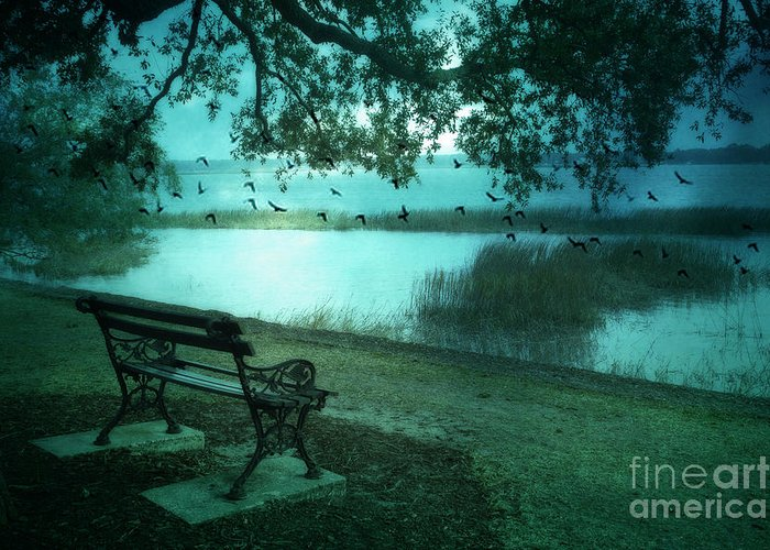 Surreal Fantasy Photos Beaufort Greeting Card featuring the photograph Beaufort South Carolina Surreal Ocean Inland Scene by Kathy Fornal