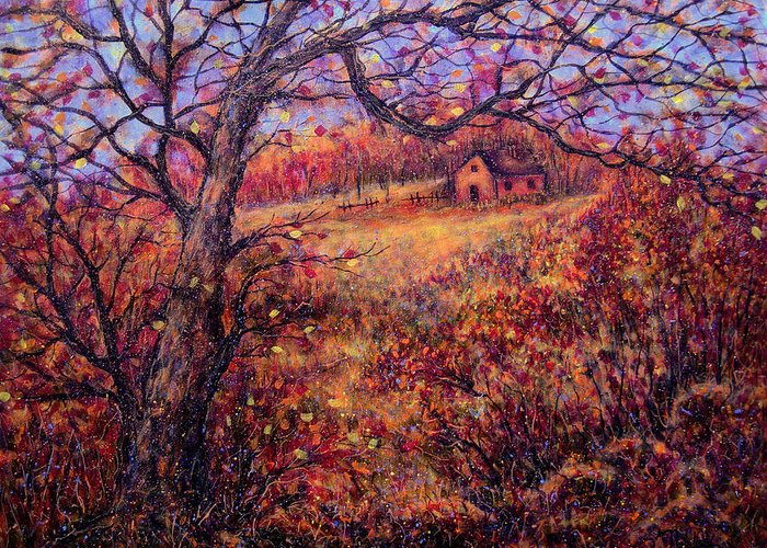 Autumn Greeting Card featuring the painting Beautiful Autumn by Natalie Holland