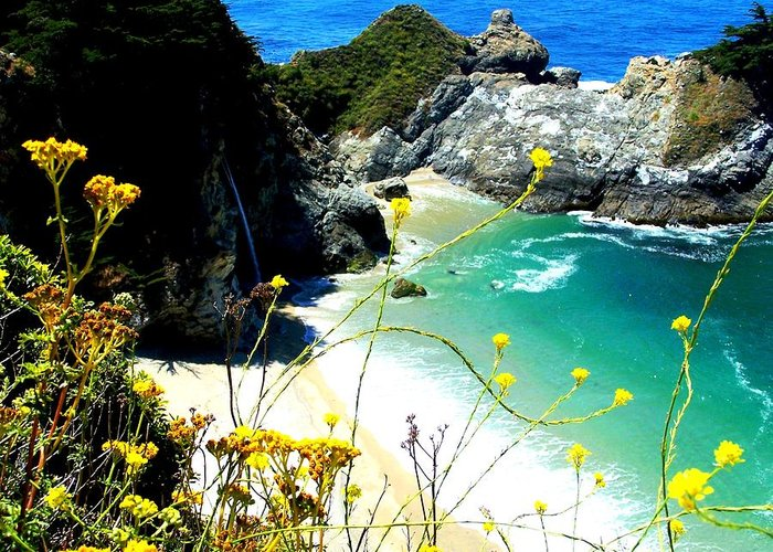 Although I May Be A Little Biased Coming From California Greeting Card featuring the photograph Beautiful Big Sur by Marin Packer