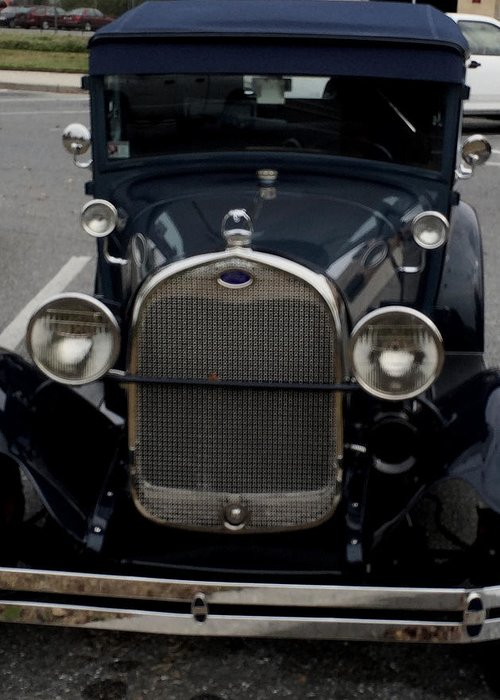 Car Greeting Card featuring the photograph Beautiful Classic Car Front View by Chris W Photography AKA Christian Wilson