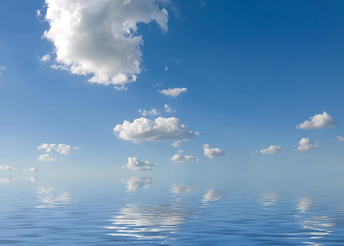 Beautiful Greeting Card featuring the photograph Beautiful Clouds And Sea by Boon Mee