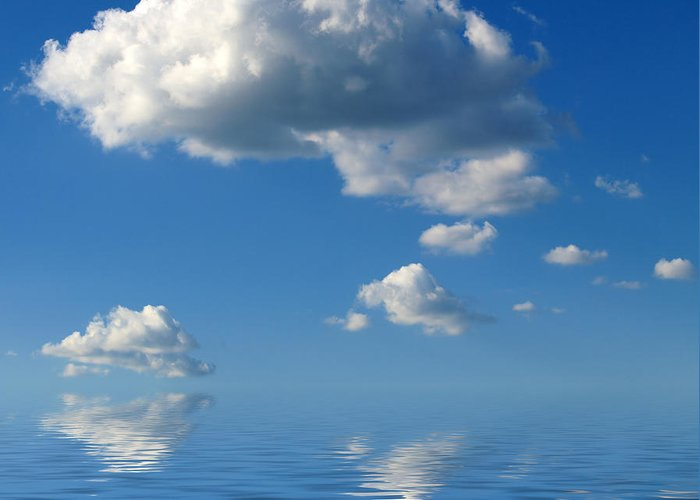 Beautiful Clouds Greeting Card featuring the photograph beautiful Clouds by Boon Mee