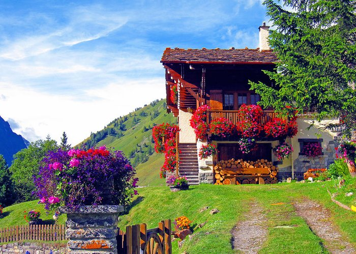 Alexandros Daskalakis Greeting Card featuring the photograph Beautiful Cottage by Alexandros Daskalakis