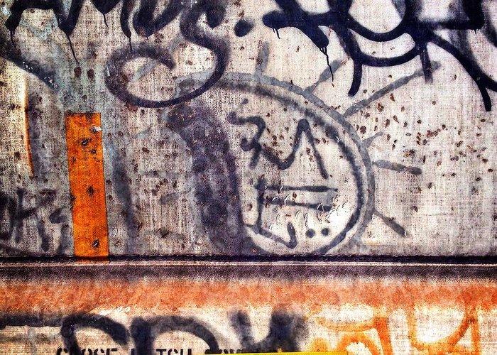 Graffiti Greeting Card featuring the photograph Beautiful Graffiti by Michael Beresin