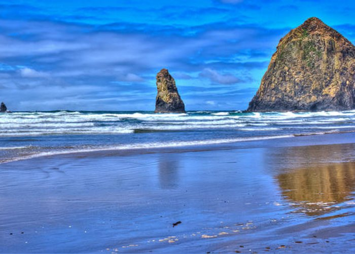 Cannon Beach Greeting Card featuring the photograph Beautiful Haystack Rock And The Needles by David Patterson
