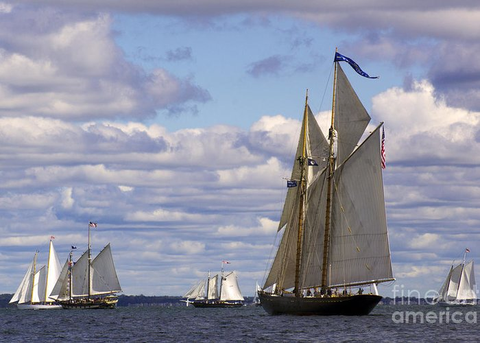 Yacht Greeting Card featuring the photograph Beautiful History by Joe Geraci