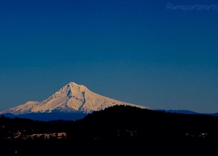 Beautiful Mt Hood Greeting Card featuring the photograph Beautiful Mt Hood by Anna Porter