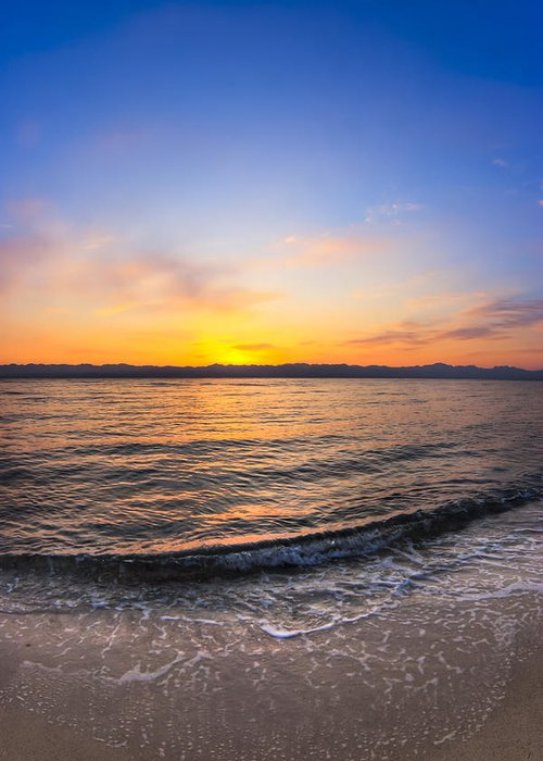 Red Sea Greeting Card featuring the photograph Beautiful Sunrise On A Red Sea Beach by Mark E Tisdale