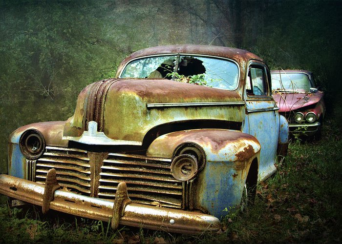 Junkyard Cars For Sale >> Beautiful Vintage Junkyard Cars Greeting Card