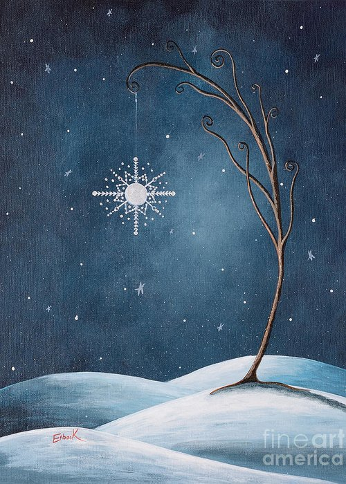 Winter Greeting Card featuring the painting Beautiful Winterland By Shawna Erback by Shawna Erback