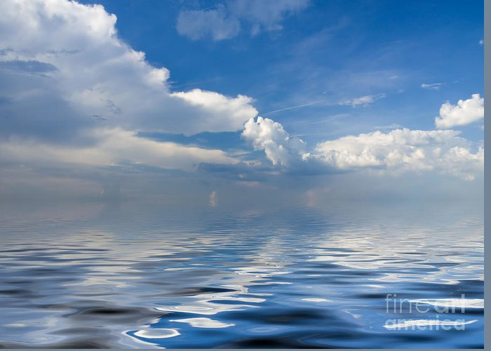 Beauty Greeting Card featuring the photograph beauty Clouds over Sea by Boon Mee