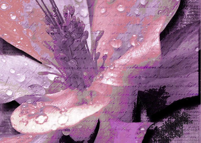 Greeting Card featuring the mixed media Beauty Ix by Yanni Theodorou