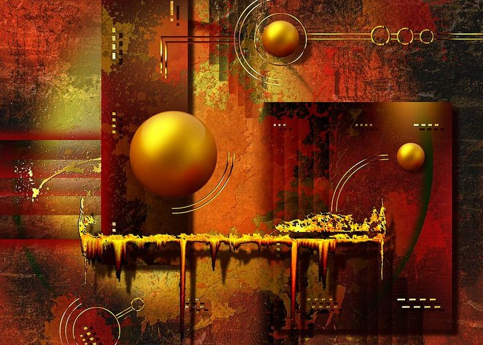 Art Greeting Card featuring the digital art Beauty Of An Illusion by Franziskus Pfleghart