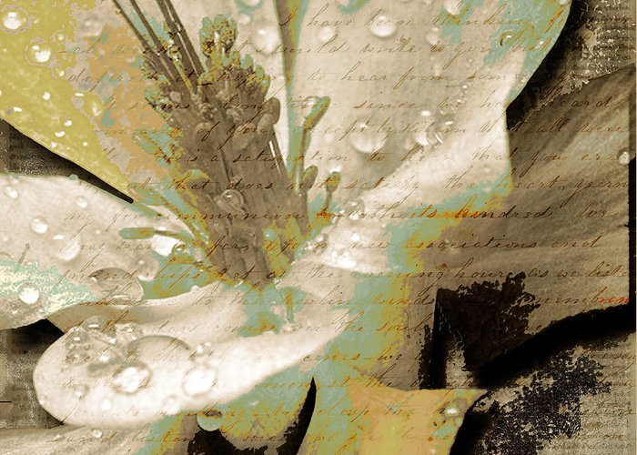 Greeting Card featuring the mixed media Beauty Vii by Yanni Theodorou