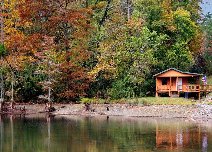 Fly Shop Greeting Card featuring the photograph Beavers Bend Fly Shop by Carolyn Fletcher