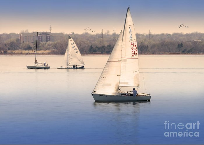 Sailing Greeting Card featuring the photograph Becalmed by Betty LaRue