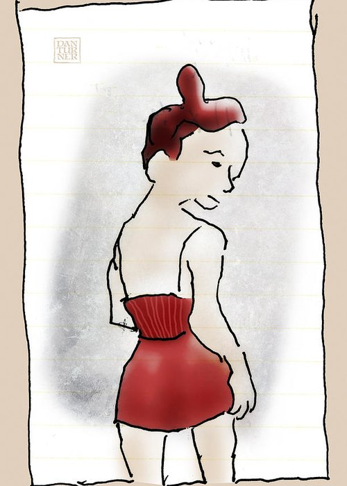 Becky Greeting Card featuring the digital art Becky by Dan Turner