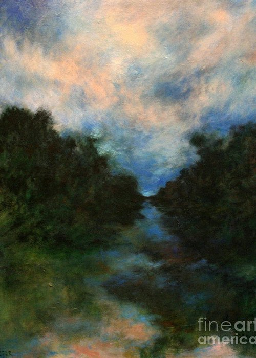 Impressionist Landscape Greeting Card featuring the painting Before The Dream by Alison Caltrider