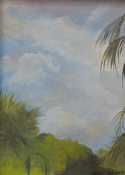 Greeting Card featuring the painting Before The Rain by Julie Orsini Shakher