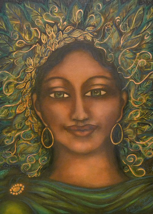 Visionary Artist Greeting Card featuring the painting Begin Again by Marie Howell Gallery