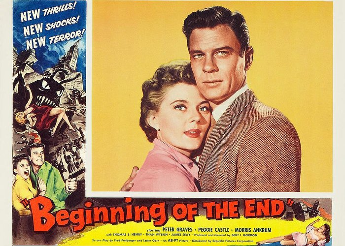Peter Graves Greeting Card featuring the photograph Beginning Of The End 1957 by Mountain Dreams
