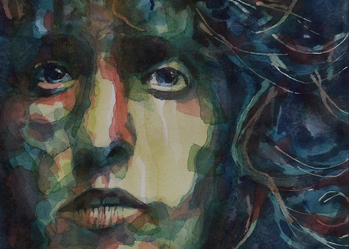 Roger Daltrey . The Who Greeting Card featuring the painting Behind Blue Eyes by Paul Lovering