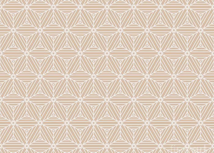 Simple Greeting Card featuring the digital art Beige Color Seamless Texture Of Cubes by Mademoiselle De Erotic