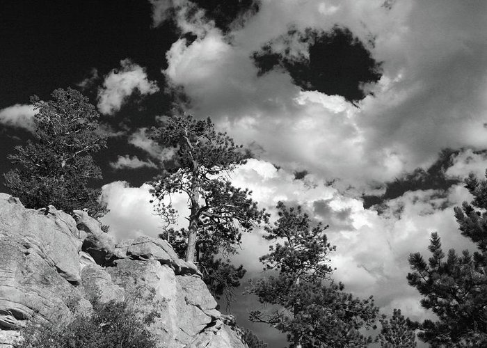 Clouds Greeting Card featuring the photograph Believe by Tracy Michicich