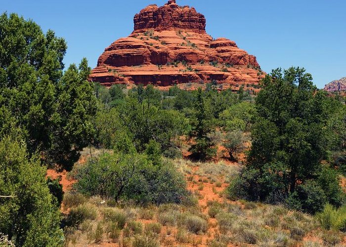 Sedona Greeting Card featuring the photograph Bell Rock 2 by Trish H