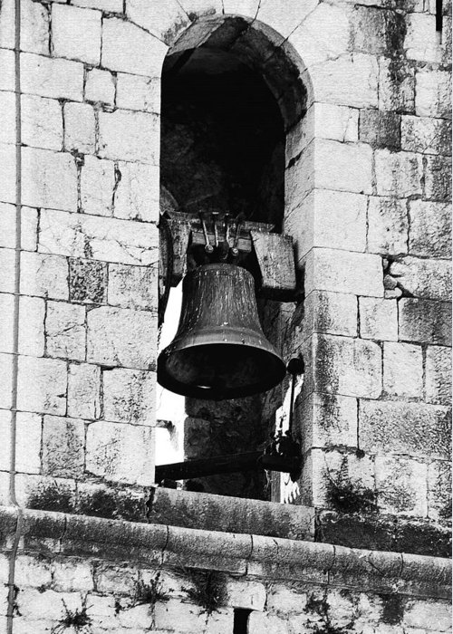 Monastery Greeting Card featuring the photograph Bell Tower Valbonne Abbey by Christine Till