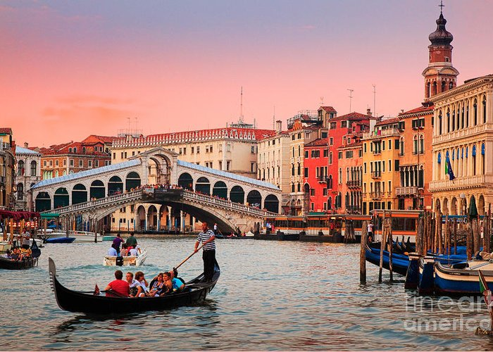 Canal Grande Greeting Card featuring the photograph La Bella Canal Grande by Inge Johnsson