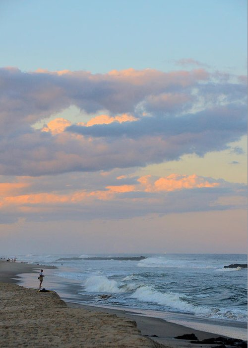 New Jersey Greeting Card featuring the photograph Belmar Nj Shore-evening-1 by Alex Vishnevsky