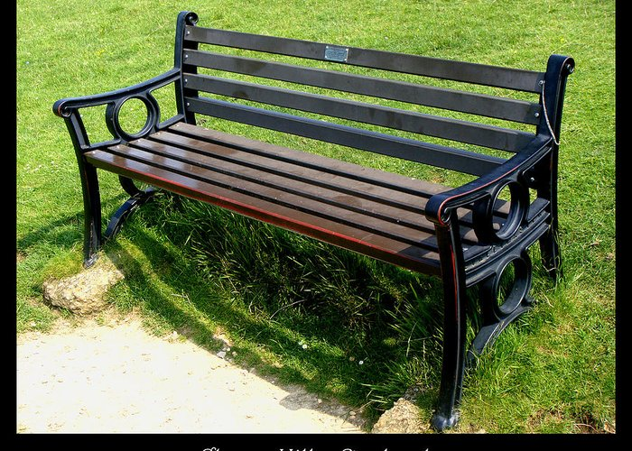 Bench Greeting Card featuring the photograph Bench #18 by Roberto Alamino