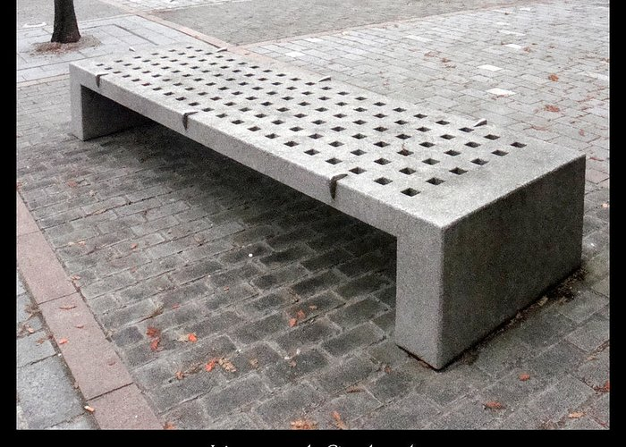 Bench Greeting Card featuring the photograph Bench #24 by Roberto Alamino