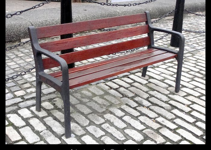 Bench Greeting Card featuring the photograph Bench #26 by Roberto Alamino