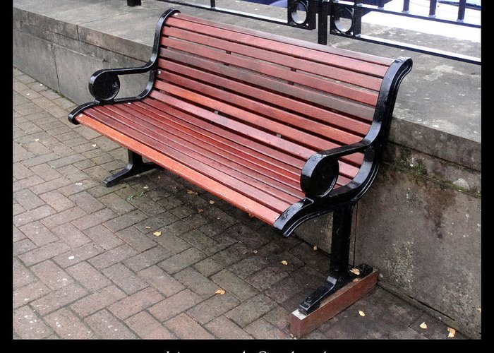 Bench Greeting Card featuring the photograph Bench #27 by Roberto Alamino
